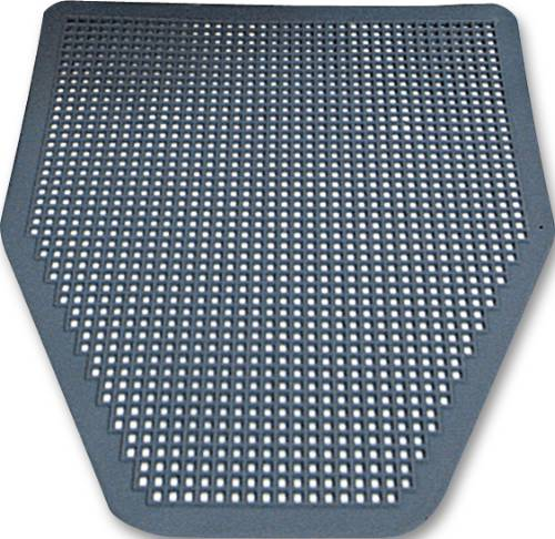 RENOWN� DISPOSABLE URINAL FLOOR MAT, GRAY/ORCHARD ZING