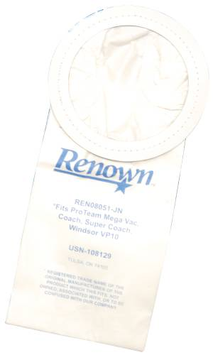 RENOWN� VAC BAG FITS SUPER COACH, COACH, MEGA VAC, VP10 10BAG/PACK