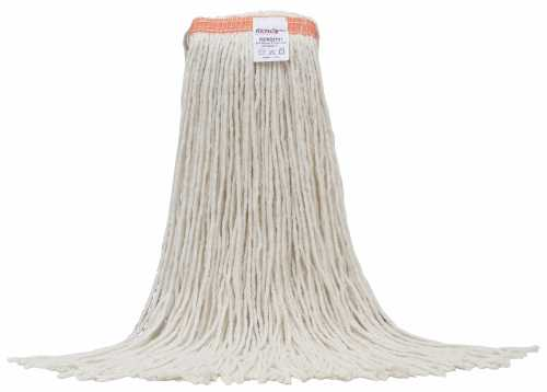 """RENOWN� #24 STANDARD CUT-END RAYON WET MOP HEAD WITH 1"""" HEADBAND, WHITE"""