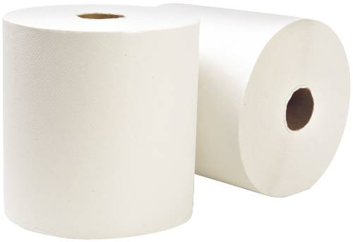 "RENOWN HARD ROLL TOWEL WHITE 8"" X 800 FT"
