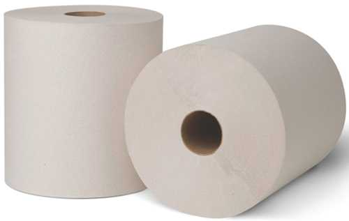 RENOWN� CONTROLLED HARD ROLL TOWEL, WHITE