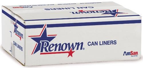 RENOWN LINER 43X48 56GL 22MIC BLACK 25/ROLL