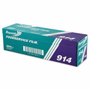 """PVC Film Roll w/Cutter Box, 18"""" x 2000ft, Clear"""
