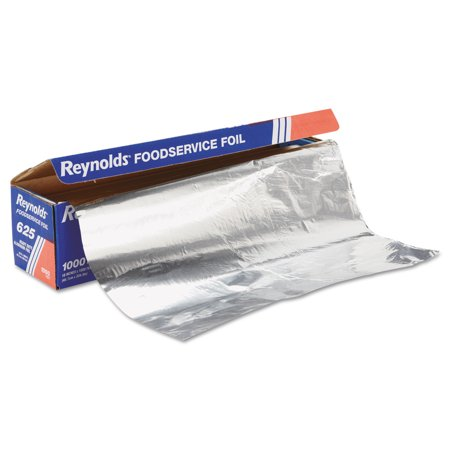 "Heavy Duty Aluminum Foil Roll, 18"" x 1000 ft, Silver"
