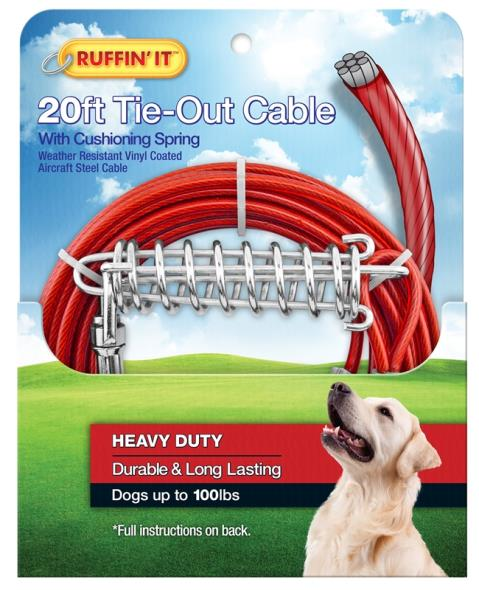 TIE-OUT CABLE 1700LB 20FT