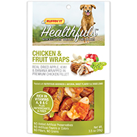 Rhode Island 08302 Dog Treats, Chicken and Fruit Wraps, 3.5