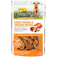 Rhode Island 08316 Ruffin? It - Healthfuls Dog Treats, Sweet Potato/Chicken Wraps, 3.5 Oz