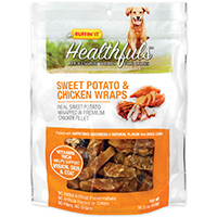 Rhode Island 08314 Ruffin? It - Healthfuls Dog Treats, Sweet Potato/Chicken Wraps, 16 Oz