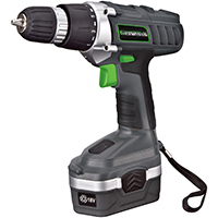 Richpower GCD18BK Cordless Drill/Driver, 18 V, 3/8 in Keyless Chuck, 0 - 550 rpm