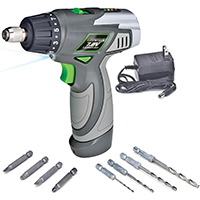 Genesis GLSD72A Cordless Screwdriver, 7.2 VDC, Lithium-Ion, 1300 mAh, 1/4 in Hexagonal Chuck