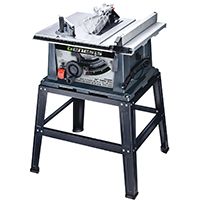 Genesis GTS10SB Heavy Duty Table Saw With Stand, 15 A, 10 in Blade, 4800 rpm