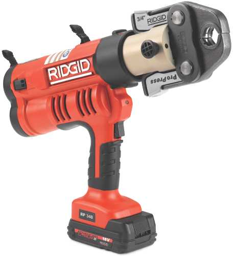 RIDGID RP340-B STANDARD BATTERY PRESSING TOOL KIT WITH JAWS