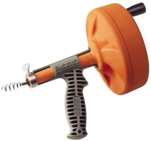 RIDGID KWIK-SPIN HAND SPINNER WITH C-1IC BULB AUGER CABLE, 1/4 IN. X 25 FT.