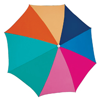 RIO UB884-775-OG Outdoor Beach Umbrella, Multi-Color