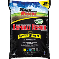 Road Rescue AP-50 Commercial Grade Asphalt Repair/Patch, 50LB, Bag, Covers 7 Sq. Ft.