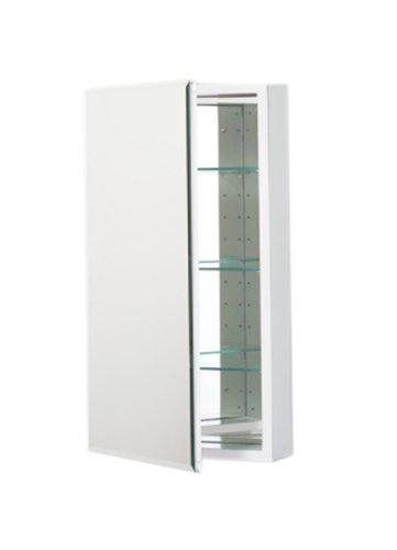 15-1/4X30 White Cabinet Beveled
