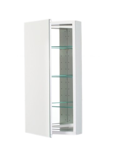 15-1/4X30 White Cabinet Mirror Door