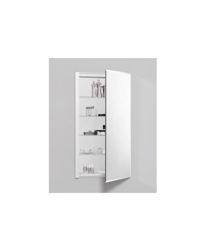 Plain Edge Mirror Lavatory Closet With Beveled Door