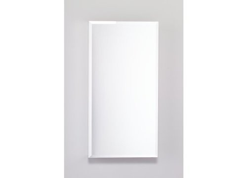 15-1/4X30 Cabinet Flat Beveled Mirror Door White