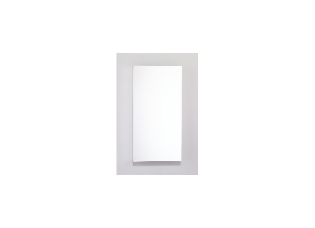 15-1/4X30X3-3/4 Flat Mirror Door White