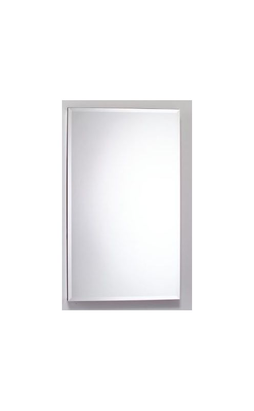 23-1/4 Flat Beveled Mirror Cabinet With Gray INT