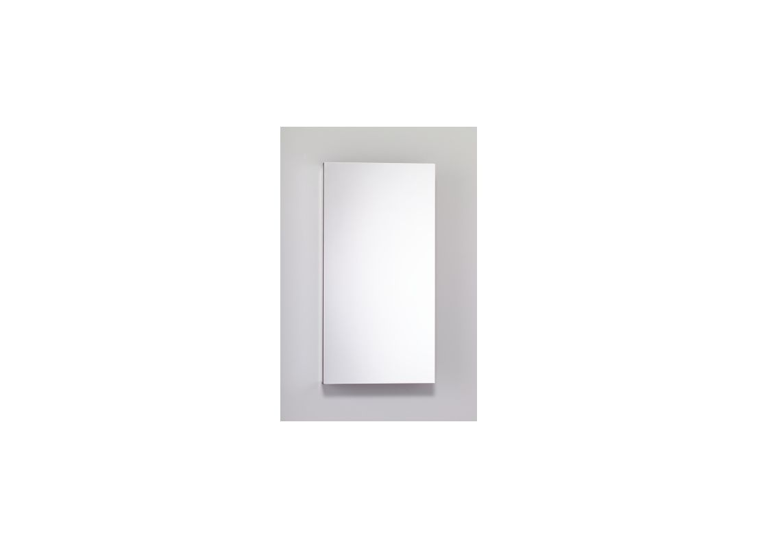 15 X 30 1 Door Mirror Medicine Cabinet Black