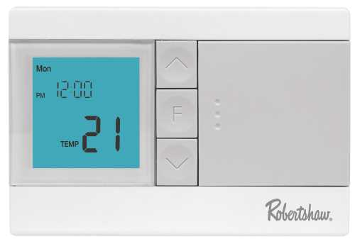 ROBERTSHAW� RS2110 NON-PROGRAMMABLE THERMOSTAT, 1 HEAT/1 COOL, 3-VOLT DC