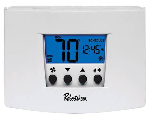 ROBERTSHAW� RS5110 5+2-DAY PROGRAMMABLE THERMOSTAT, 1 HEAT/1 COOL, 24-VOLT AC WITH BATTERY BACKUP OR 3-VOLT DC