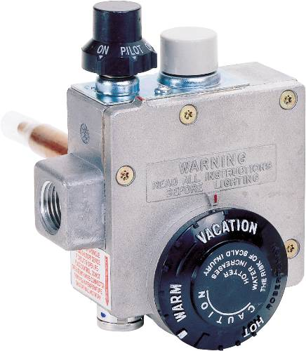 ROBERTSHAW� NATURAL GAS WATER HEATER THERMOSTAT, 1.375-INCH SHANK, 4-INCH WATER CONNECTOR
