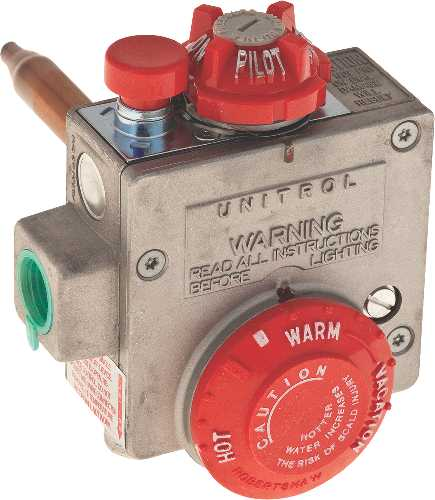 ROBERTSHAW� NATURAL GAS WATER HEATER THERMOSTAT, 1.375-INCH SHANK, 3.5-INCH WATER CONNECTOR