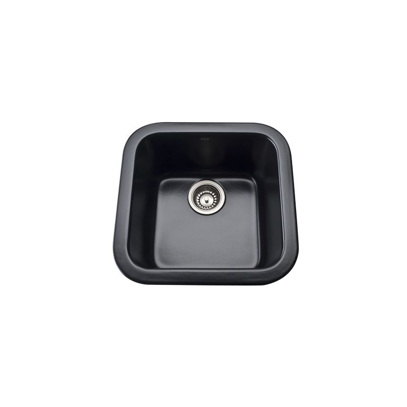 17 X 17 0 Hole Single Band Fireclay SINK *ALLIA Matte Black