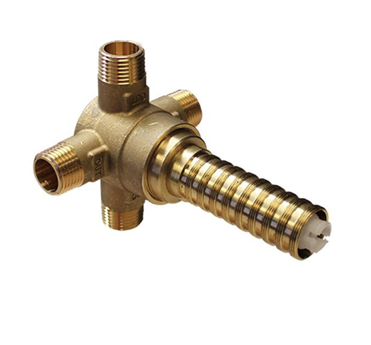 4P 3 Way Brass DED Diverter Rough In ONLY
