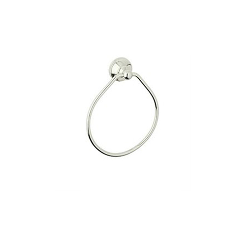 *pe&gre Towel Ring Polished Nickel