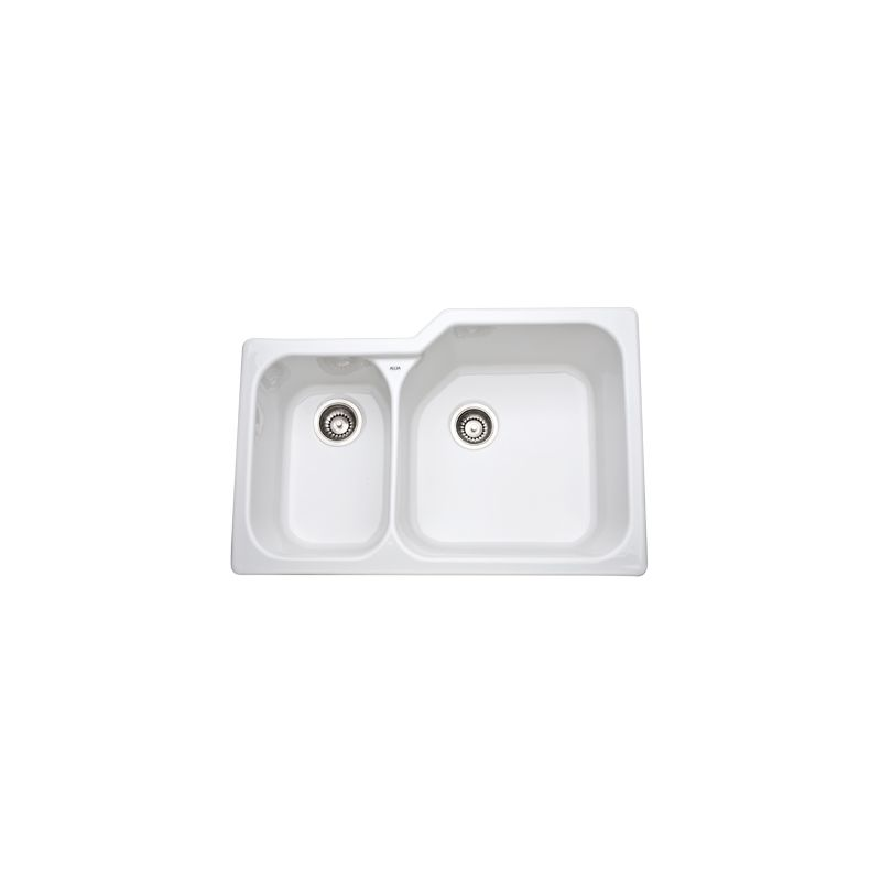 1.5 Rvrs Undercounter Fireclay Sink *ALLIA White
