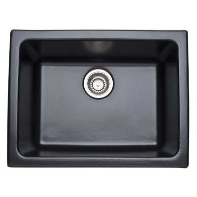 23 X 18 0 Hole Single Band Fireclay SINK *ALLIA Matte Black