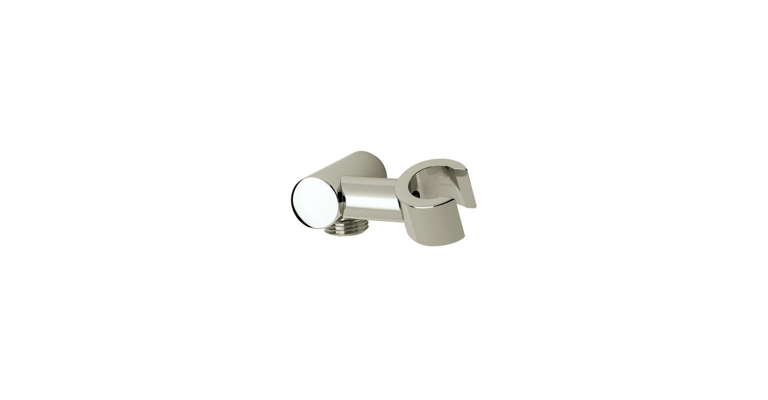 CYLINDRIC PIVOTING Hand Shower Holder Satin Nickel