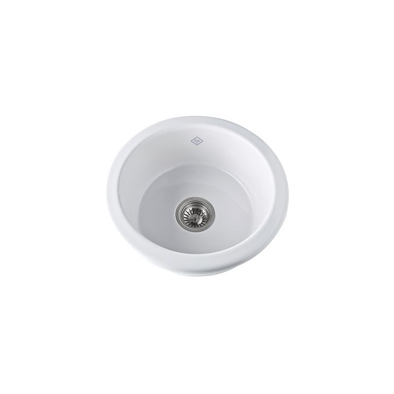 18 0 Hole Single Band Fireclay UM Bar SINK PARC