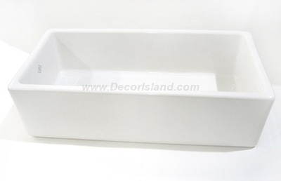 36 X 18 0 Hole Single Band Fireclay Apron SINK *SHAW White