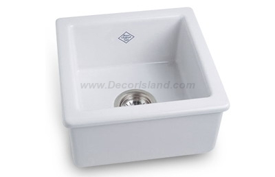 15 X 15 0 Hole Single Band Fireclay SINK *SHAW White