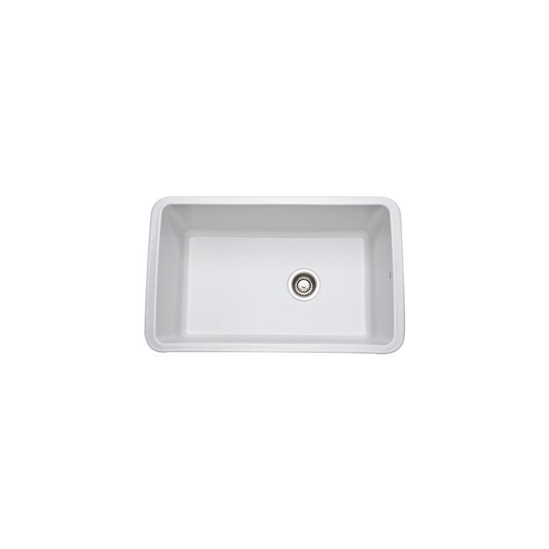 31 X 19 0 Hole Single Band Undercounter Fireclay SINK *ALLIA White