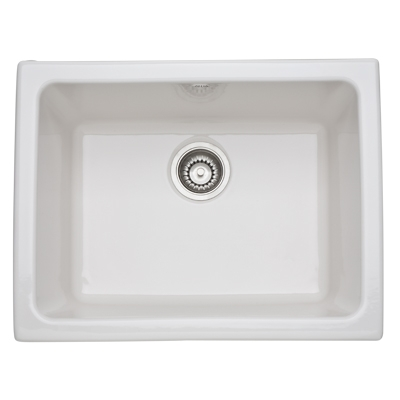 23 X 18 0 Hole Single Band Fireclay SINK *ALLIA Biscuit