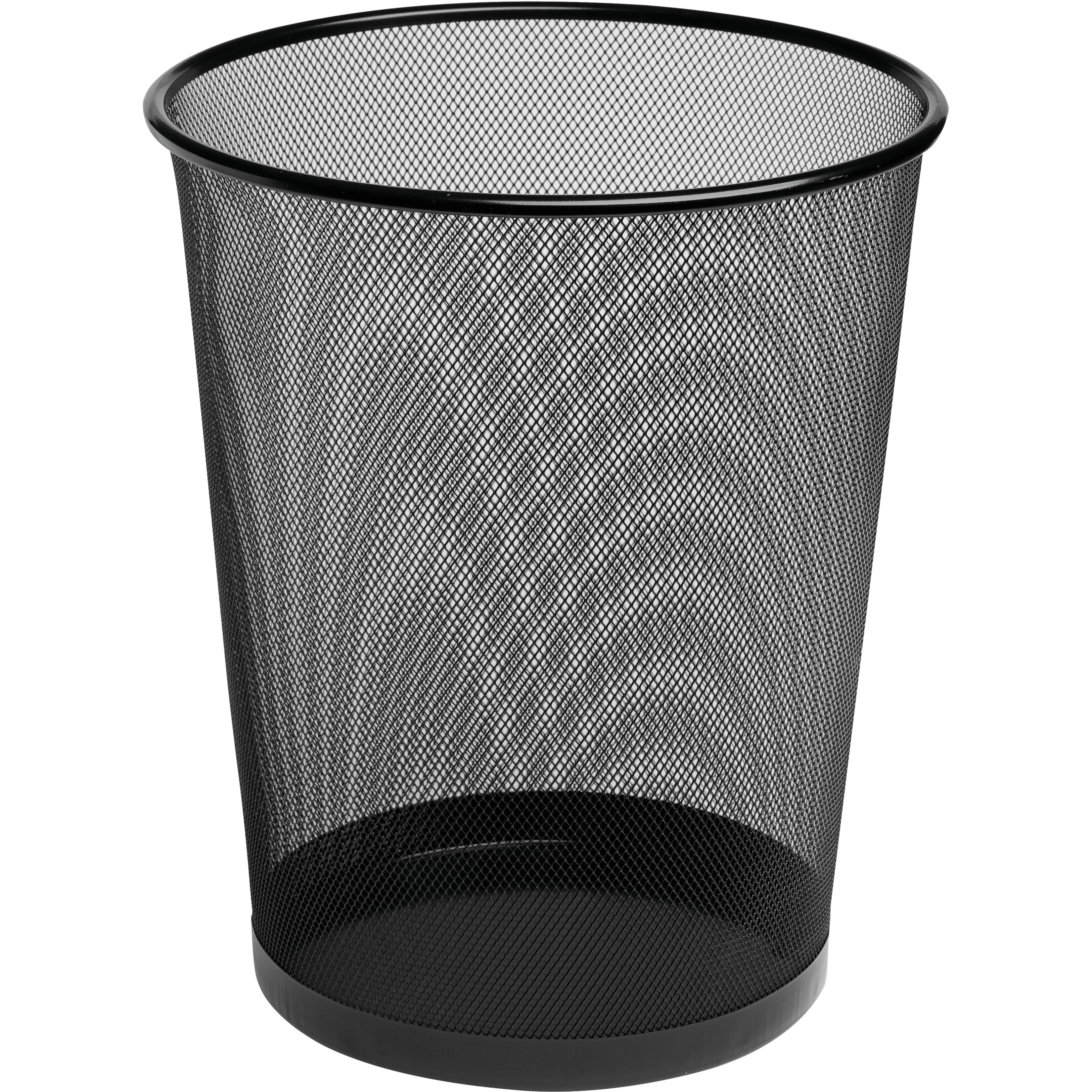 4 1/2 Gallon Steel Black Round Mesh Trash Can