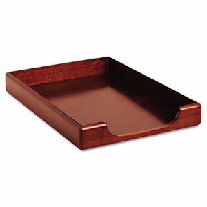 Wood Tones Legal Desk Tray, Wood, Mahogany