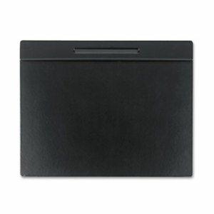 Wood Tone Desk Pad, Black, 21 x 18