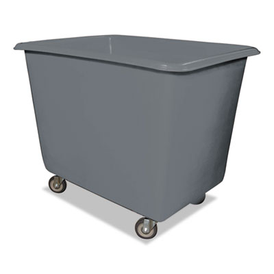 16 Bushel Poly Truck w/Galvanized Steel Base, 32 x 44 x 35 1/2, 800lbs Cap, Gray