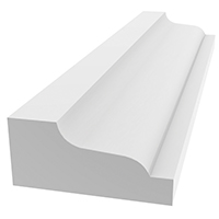 SHINGLE MOULD WHT 1-5/8 X 12FT