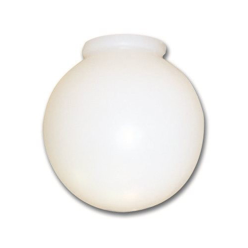 ROYAL COVE BALL GLOBE REPLACEMENT LIGHT FIXTURE GLASS, 6 IN. DIAMETER, SMOKE GLASS