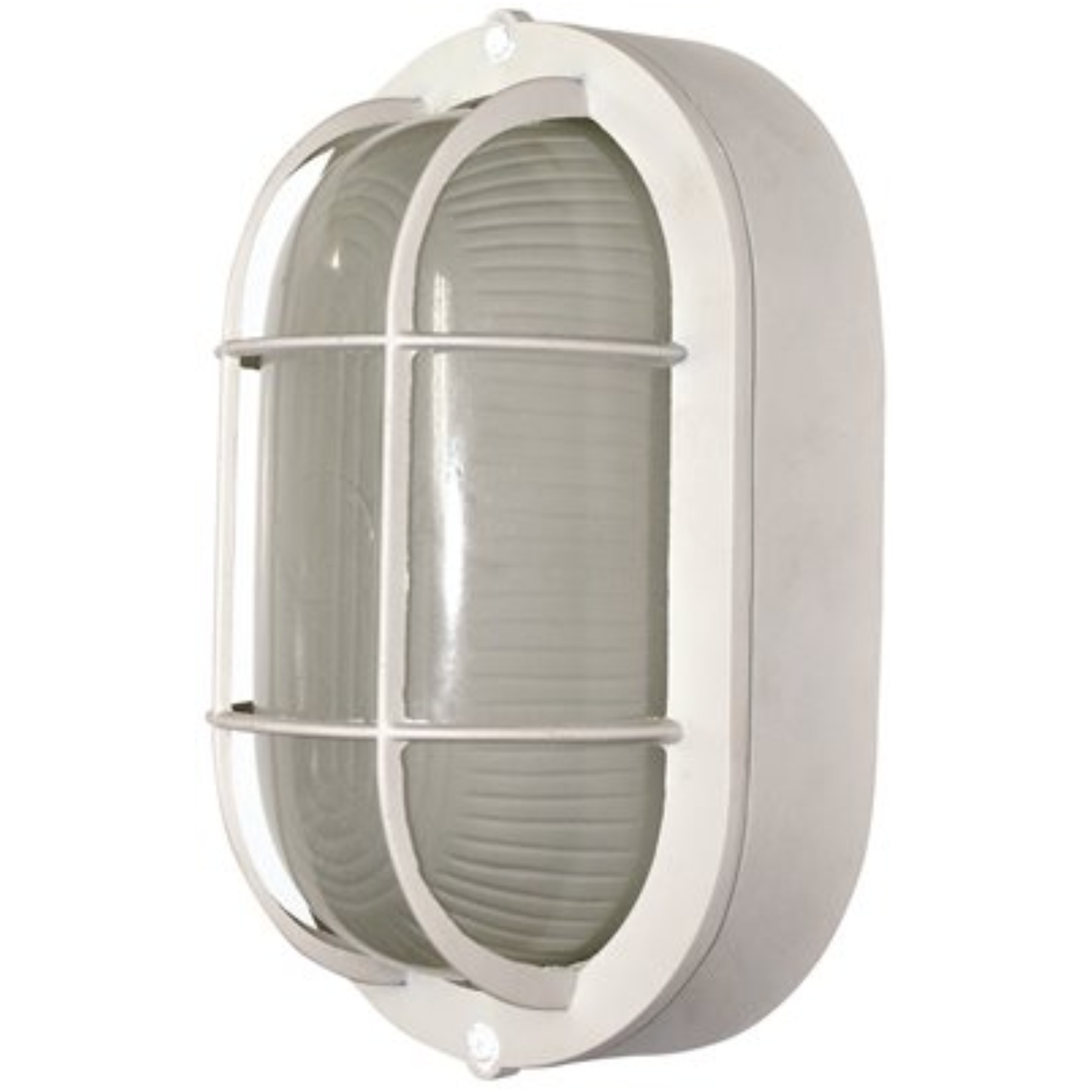 ROYAL COVE� OUTDOOR OVAL WALL LANTERN, WHITE, 8-1/4 X 4-3/4 IN., USES (1) 60-WATT MEDIUM BASE LAMP*
