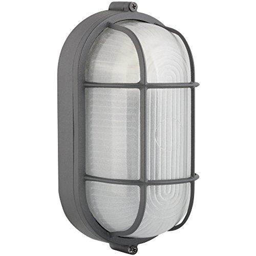 ROYAL COVE� OUTDOOR OVAL WALL LANTERN, BLACK, 8-1/4 X 4-3/4 IN., USES (1) 60-WATT MEDIUM BASE LAMP*