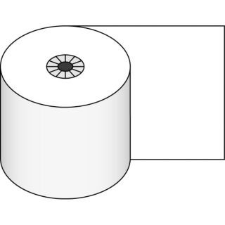"Heat Sensitive Register Rolls, 2 1/4"" x 80 ft, 1 Ply, White, 48 Rolls"